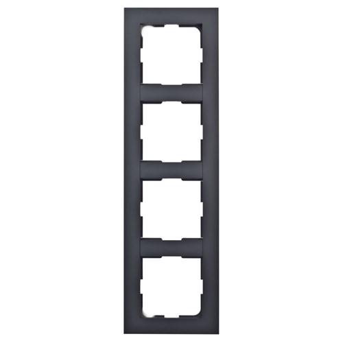 ELKO Plus kombinasjonsplate 4-hull Sort
