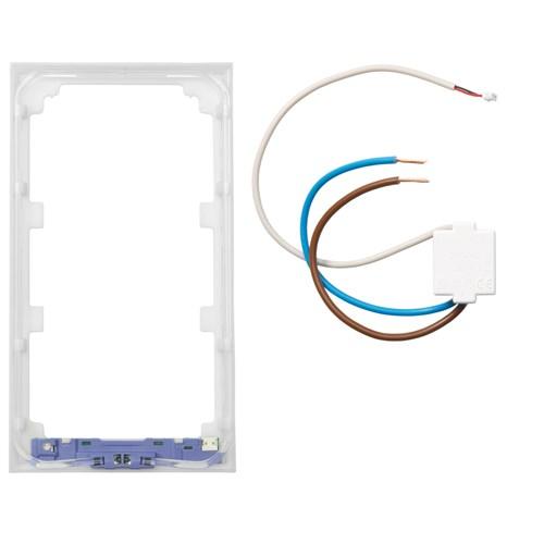 ELKO Plus lysramme m/blått lys 2-Hull