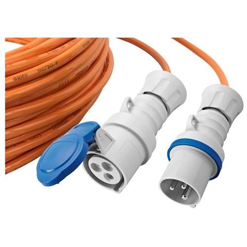 EL-Grossisten Skjøtekabel 16A 230V 216-6 PUR H07BQ-F 3G2,5mm² 25m IP44