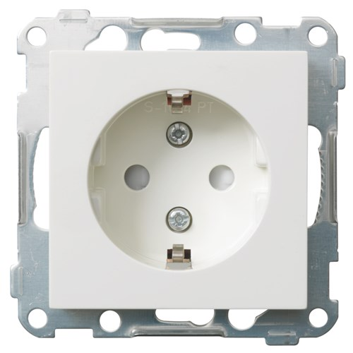 ELKO stikkontakt enkel innfelt m/jord u/ramme S1014 PT PH