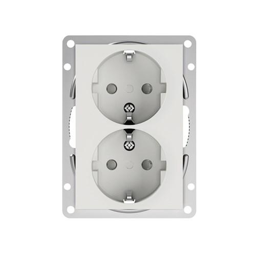 ELKO Plus option stikkontakt dobbel innfelt m/jord PH