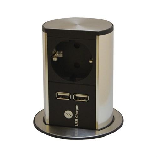 Bachmann Elevator stikkontakt m/USB-lader