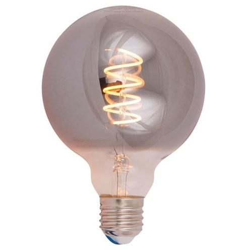 Scanlight LEDlyspære Globe spiral Ø95mm 4W E27 tonet glass dimbar