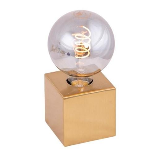 Dice bordlampe Messing 10x10cm