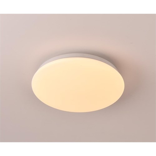 Basic takplafond 18W LED Ø26cm Hvit