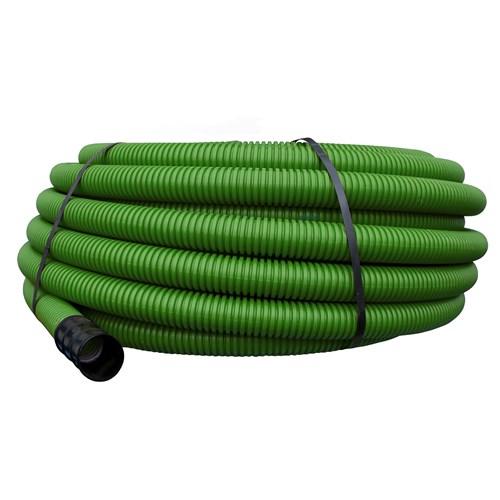 Pipelife korrugert dobbelvegget plastrør for nedgraving 50mm Grønn 50m