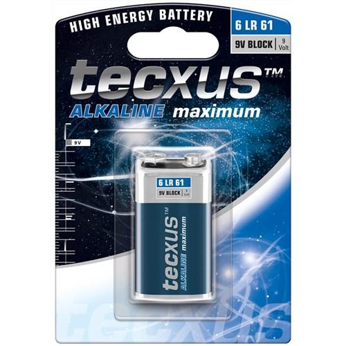 Tecxus alkaline batteri 6LR61 9v