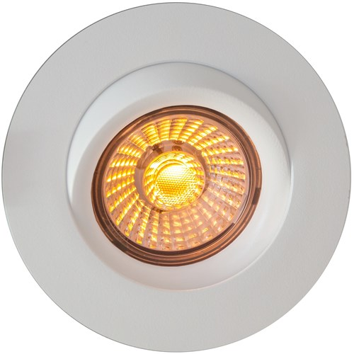 Calida LED downlight 9w dim to warm 360° tiltbar Hvit
