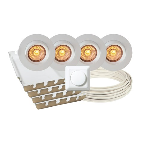 Calida LED downlightpakke 4 pk