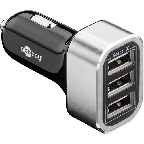 Goobay USB lader for bil 3xUSB 5.5A