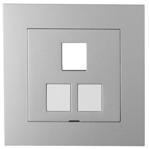 ELKO Plus sentralplate Aluminium 3x Keystone tom