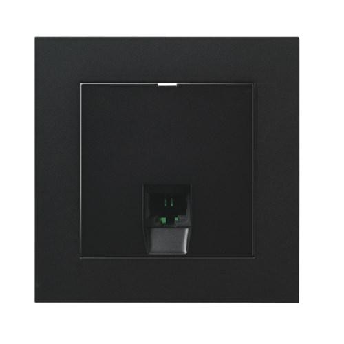 ELKO Plus modularuttak 1xRJ45 KAT6 UTP innfelt Sort