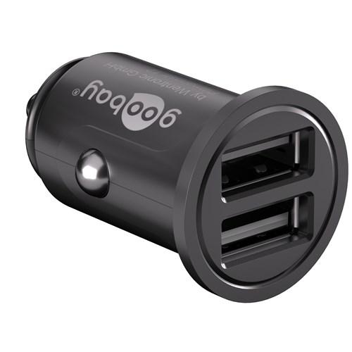 Goobay USB lader for bil 2xUSB 4.8A