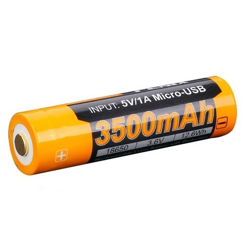 Fenix 18650-batteri 3.6V 3500mAh USB