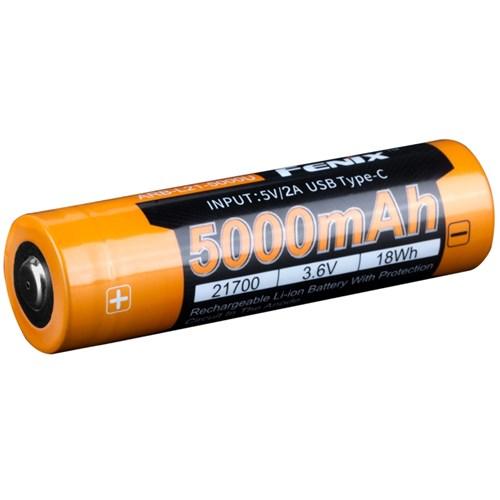 Fenix 21700-batteri 3.6V 5000mAh USB-C